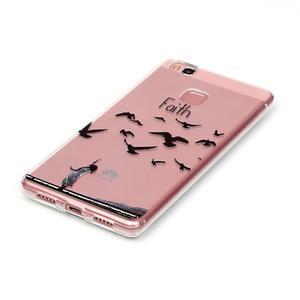Transparentní obal na telefon Huawei P9 Lite - svoboda - 2