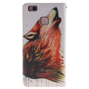 Lethy knížkové pouzdro na telefon Huawei P9 Lite - mýtický vlk - 2