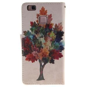 Lethy knížkové pouzdro na telefon Huawei P9 Lite - podzimní strom - 2