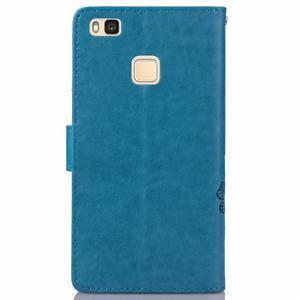 Cloverleaf peněženkové pouzdro na Huawei P9 Lite - modré - 2