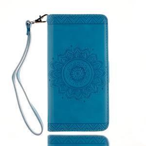 Mandala PU kožené pouzdro na Huawei P9 Lite - modré - 2