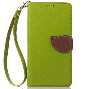 Leaf PU kožené pouzdro na Huawei P9 Lite - zelené - 2