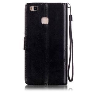 Magicfly knižkové puzdro na telefon Huawei P9 Lite - čierne - 2