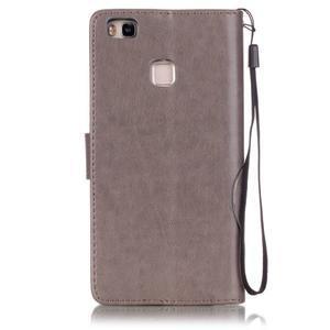 Magicfly knížkové pouzdro na telefon Huawei P9 Lite - šedé - 2