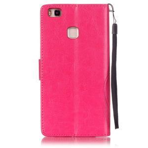 Magicfly knižkové puzdro na telefon Huawei P9 Lite - rose - 2
