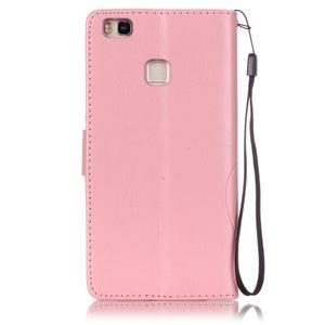 Magicfly knížkové pouzdro na telefon Huawei P9 Lite - růžové - 2