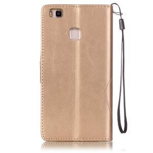 Magicfly knížkové pouzdro na telefon Huawei P9 Lite - zlaté - 2