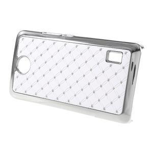 Drahokamový kryt na Huawei Y635 - biely - 2