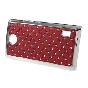 Drahokamový kryt na Huawei Y635 - červený - 2