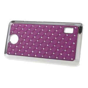 Drahokamový kryt na Huawei Y635 - fialový - 2