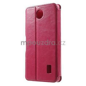 Rose kožené puzdro na Huawei Y635 - 2