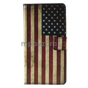Peňaženkové puzdro Huawei Y635 - US vlajka - 2