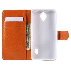 Zapínací peňaženkové puzdro na Huawei Y635 - folk - 2