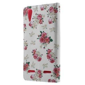 Emotive peněženkové pouzdro na mobil Lenovo A6000 - květiny - 2