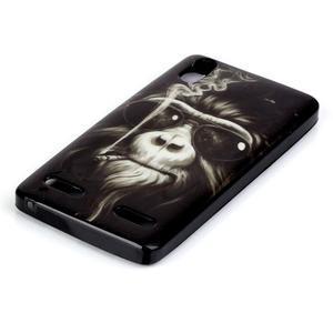 Jelly gelový obal na mobil Lenovo A6000 - opičák - 2