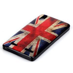 Jelly gelový obal na mobil Lenovo A6000 - UK vlajka - 2