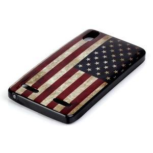 Jelly gelový obal na mobil Lenovo A6000 - US vlajka - 2