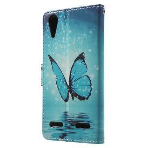 Emotive peněženkové pouzdro na mobil Lenovo A6000 - modrý motýl - 2