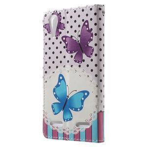 Emotive peňaženkové puzdro pre mobil Lenovo A6000 - motýľe - 2