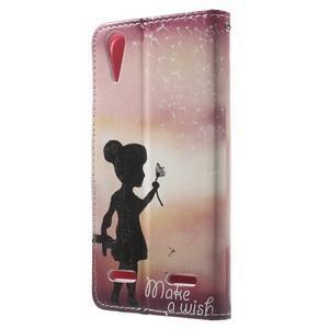 Emotive peňaženkové puzdro pre mobil Lenovo A6000 - dievčatko - 2