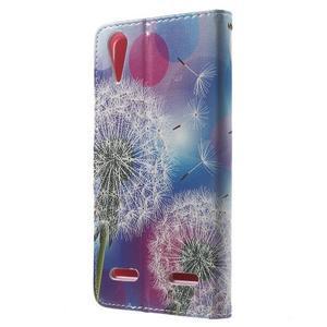 Emotive peňaženkové puzdro pre mobil Lenovo A6000 - púpavy - 2