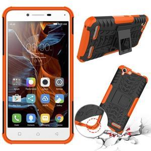 Outdoor odolný obal na mobil Lenovo Vibe K5 / K5 Plus - oranžový - 2
