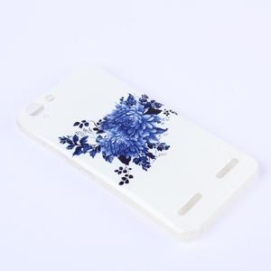Softy gélový obal pre mobil Lenovo Vibe K5 / K5 Plus - modré kvetiny - 2
