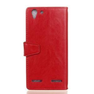 Knížkové PU kožené puzdro pre Lenovo Vibe K5 / K5 Plus - červené - 2