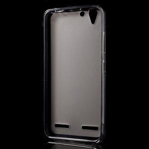 Matný gélový obal pre mobil Lenovo Vibe K5 / K5 Plus - šedý - 2