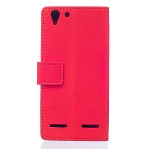 Peňaženkové puzdro pre Lenovo Vibe K5 / K5 Plus - červené - 2
