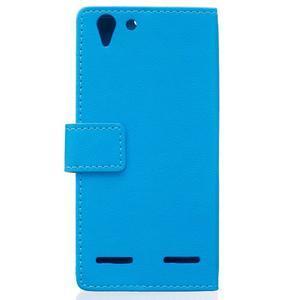 Peněženkové pouzdro na Lenovo Vibe K5 / K5 Plus - modré - 2