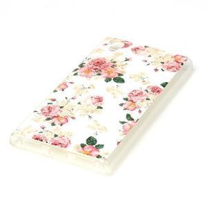 Softy gélový obal pre mobil Lenovo P70 - kvetiny - 2