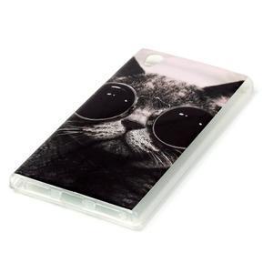 Softy gélový obal pre mobil Lenovo P70 - cool mačka - 2