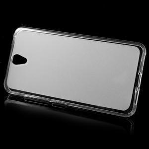 Matný gélový obal pre mobil Lenovo Vibe S1 - Transparentný - 2