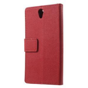 Peňaženkové puzdro pre mobil Lenovo Vibe S1 - červené - 2