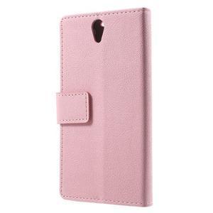 Peňaženkové puzdro pre mobil Lenovo Vibe S1 - ružové - 2