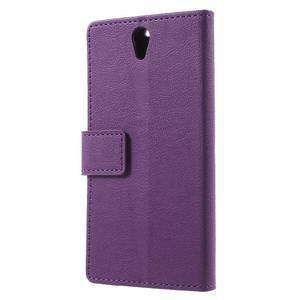 Peňaženkové puzdro pre mobil Lenovo Vibe S1 - fialové - 2