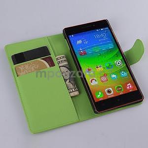 Zelené peňaženkové puzdro Lenovo Vibe X2 - 2