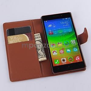 hnedé peňaženkové puzdro Lenovo Vibe X2 - 2