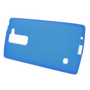 Matný gélový kryt na LG Spirit - modrý - 2
