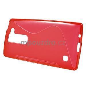 S-line gélový obal pre LG Spirit 4G LTE - červený - 2