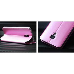 Vintage PU kožené puzdro pre mobil Meizu M3 note - ružové - 2