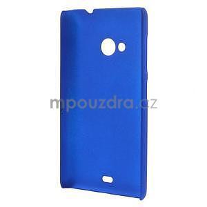 Modré pogumované plastové puzdro Microsoft Lumia 535 - 2