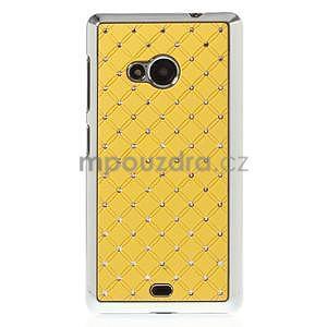Drahokamový kryt na Microsoft Lumia 535 - žltý - 2