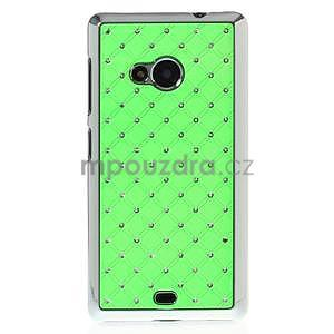 Drahokamový kryt na Microsoft Lumia 535 - zelený - 2