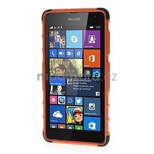 Vysoce odolný obal pre Microsoft Lumia 535 - oranžový - 2