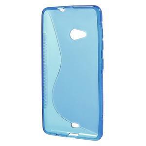 Gélový obal na Microsoft Lumia 535 - modrý - 2