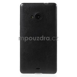 Ultra tenký kožený kryt pre Microsoft Lumia 535 - čierny - 2