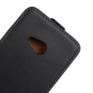 Flipové čierné puzdro na Microsoft Lumia 535 - 2