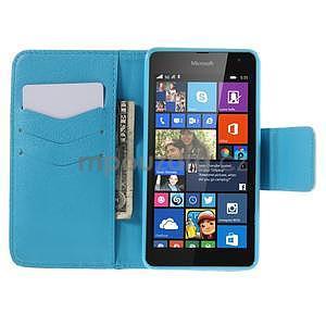 Peňaženkové puzdro Microsoft Lumia 535 - vodný kvet - 2